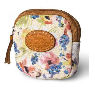 Square Coin Holder in a Cute Floral Lambskin - Pierotucci