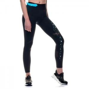 Sports technical legging with transparencies eyre - lipotherm