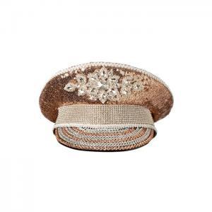 Captain luxury hat pink gold - gianin