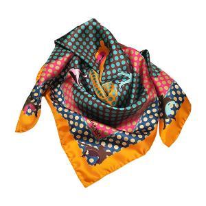 Rosellarama - Runners 100% silk twill scarf
