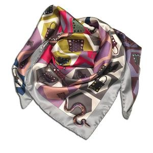 Rosellarama - Snaky 100% silk twill scarf