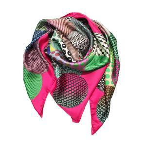 Rossellarama - Spherical  Scarf Pink 100 Silk Twill Scarf