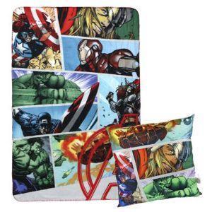 Plaid + cushion set avengers - cerdá