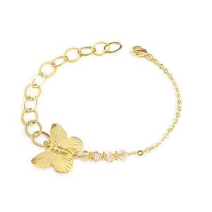 Butterfly bracelet with swarovski crystals - dige designs