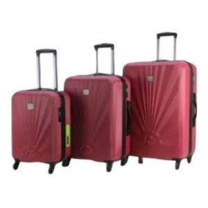 Princess travellers geneva luggage trolley bag with built in scale & power bank silver set of 3 - princess traveller