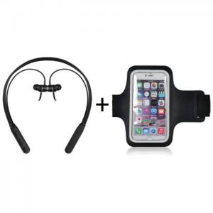 Xcell SH-S102 In Ear Wireless Headset Black + AB1 Arm Band Black - Xcell