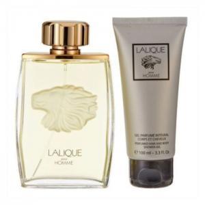Lalique Lion Gift Set For Men (Lalique Lion 125ml EDP + 100ml Shower Gel) - Lalique