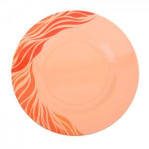 "Royalford melamine aqua thai soup plate, 9"" (orange) - royalford"