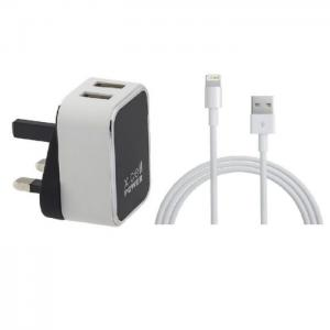 Xcell Home Charge With Lightning Cable - White - Xcell