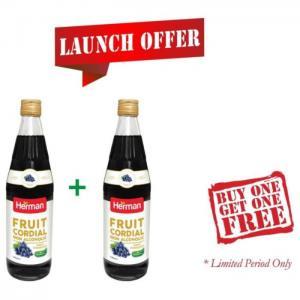 Herman fruit cordial 710ml buy 1 get 1 free offer - herman