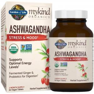 Garden of life mykind organics ashwagandha 2 month supply - garden of life