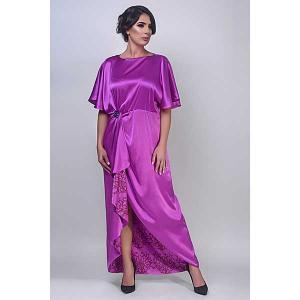 Iris amethyst exclusive satin silk kaftan - kaftan de moi