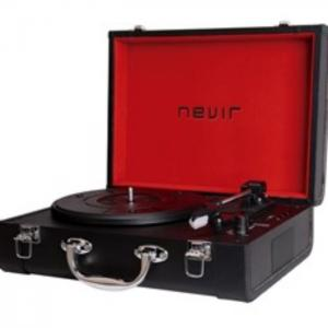 Tocadiscos portatil bluetooth nevir nvr - 804vbue negro - Nevir