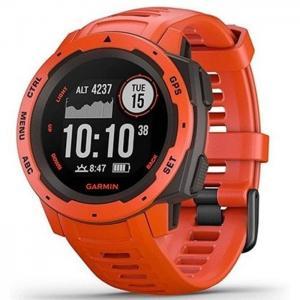Reloj smartwatch garmin instinct solar rojo - garmin