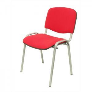 Pack 4 sillas alcaraz arán rojo chasis gris - piqueras y crespo