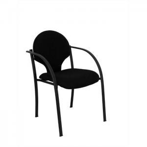 Pack 2 sillas hellin chasis negro bali negro - piqueras y crespo