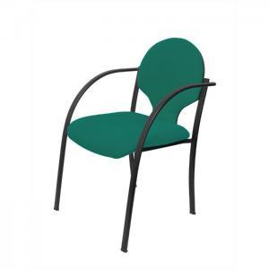 Pack 2 sillas hellin chasis negro bali verde - piqueras y crespo
