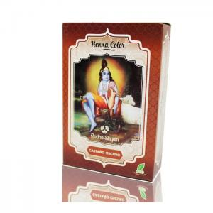 Henna radhe dark brown powder - radhe shyam
