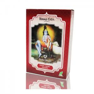 Henna Radhe Super Mahogany Dark Powder - Radhe Shyam