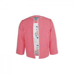 Grace: fuchsia spot jacket - little lord & lady