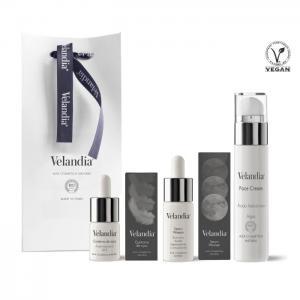 Cosmetic pack woman: facial cream 50ml - serum woman 30ml. - eye contour 15ml. - velandia