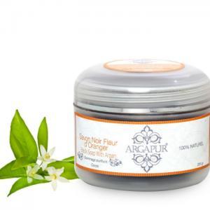 Black soap with orange blossom 200 gr - Argapur