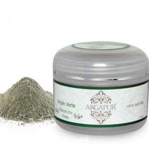 Green clay body mask in powder 200 gr - Argapur