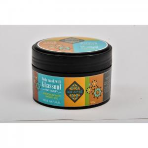 Body mask with ghassoul and honey 200 gr - Argapur