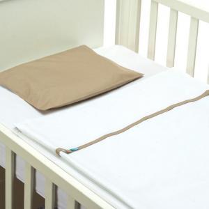 Easy Baby Bed - Plain beige - 60x120 cm  - B-MUM