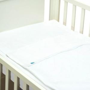 Safety baby bed - purity (white) - waterproof - 50x80 cm  - b-mum