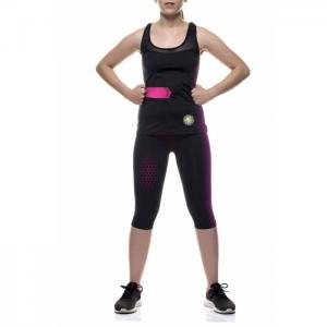 Mesh capri and sports shirt with fiber emana - anaissa