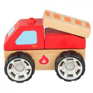 Wooden vehicle for mounting and dismounting: FIRE TRUCK - JUGUETES Y PELUCHES NEO
