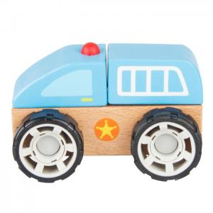 Wooden vehicle for mounting and dismounting: Police Car - JUGUETES Y PELUCHES NEO