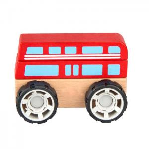 Wooden vehicle for mounting and dismounting: BUS - JUGUETES Y PELUCHES NEO