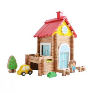 Wood construction set assembled and disassembled: casa 82 pieces - juguetes y peluches neo