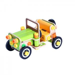 Wood construction set assembled and disassembled vehicle: jeep car parts 82 - juguetes y peluches neo