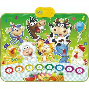 Manta musical: birthday party animals - juguetes y peluches neo