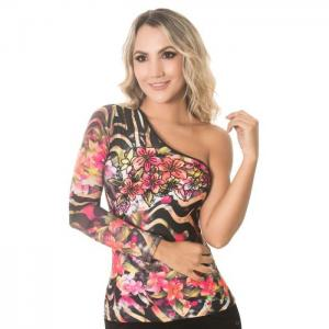 Asymmetric blouse, hand decorated - odissea