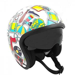 Motorcycle helmet open face - ken rod