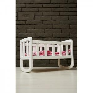 Doll cot (white) (550*280*350) (beech) new - tm goydalka
