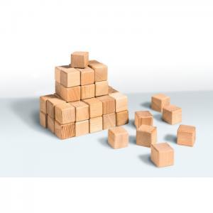 Wooden cubes (20 pcs.) (40*40*40) (beech) - tm goydalka