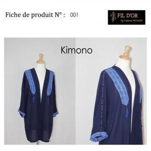 Kimono - 1 - fil d'or