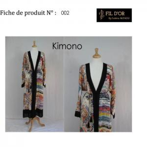 Kimono - 2 - fil d'or