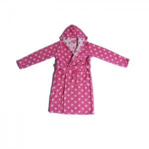 Kids bathrobe pink stars - home lab