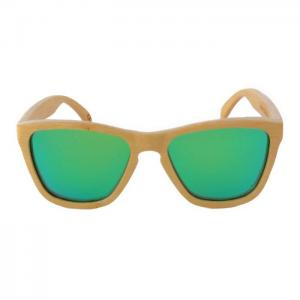 White flamingo green - gafas bamboo