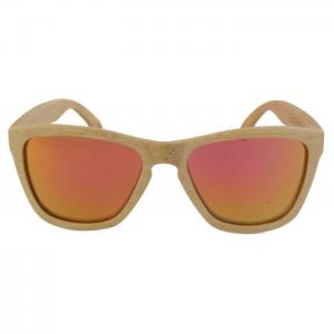 White flamingo red pinky - gafas bamboo