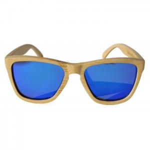 White flamingo blue - gafas bamboo