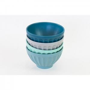 Set of 4 Cereal Bowls Assorted colors - EQC Ceramics