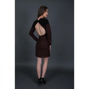 Tweed open back dress (one piece) - martha fadel