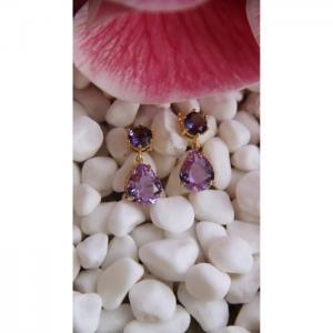 Purple Earrings - Blombary Design